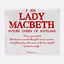 Lady Macbeth (red) Throw Blanket