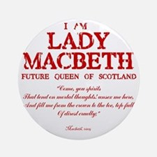Lady Macbeth (red) Round Ornament