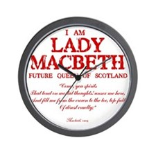 Lady Macbeth (red) Wall Clock