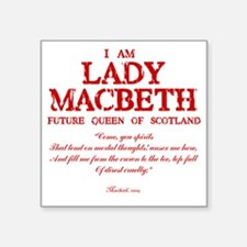 "Lady Macbeth (red) Square Sticker 3"" x 3"""