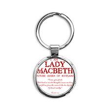 Lady Macbeth (red) Round Keychain