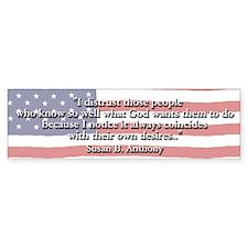 Susan B. Anthony Bumper Bumper Sticker