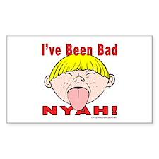 Nyah Bad Boy! Rectangle Decal