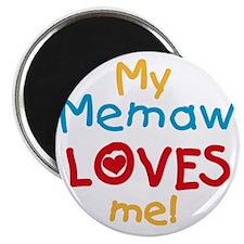 My Memaw Loves Me Magnet