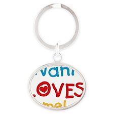 Nani Loves Me Oval Keychain