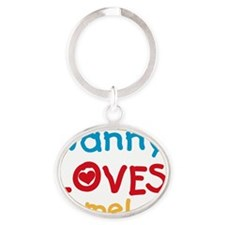Nanny Loves Me Oval Keychain