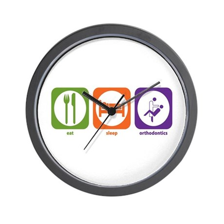 Eat Sleep Orthodontics Wall Clock