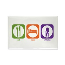 Eat Sleep Orthotics Rectangle Magnet (100 pack)