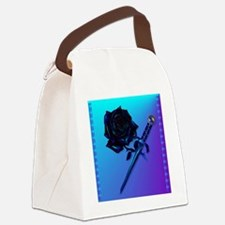 Black Rose and Dagger-2 Canvas Lunch Bag
