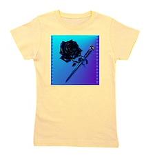 Black Rose and Dagger-2 Girl's Tee