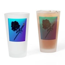 Black Rose and Dagger-2 Drinking Glass