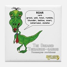 The Dreaded Thesaurus-saurus Tile Coaster