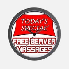 Todays Special Free Beaver Massages Wall Clock