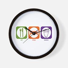 Eat Sleep Meters Wall Clock