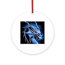 Winter Dragon Round Ornament