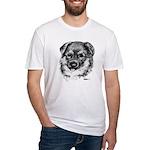 German Shepherd Puppy Fitted T-Shirt