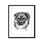 German Shepherd Puppy Framed Panel Print