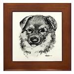 German Shepherd Puppy Framed Tile