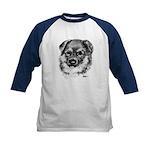 German Shepherd Puppy Kids Baseball Jersey