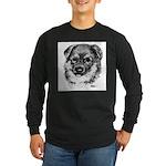 German Shepherd Puppy Long Sleeve Dark T-Shirt