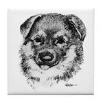 German Shepherd Puppy Tile Coaster