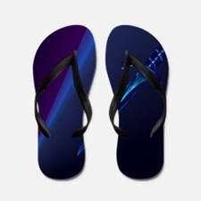 Mens All Over Back Black Dagger Flip Flops