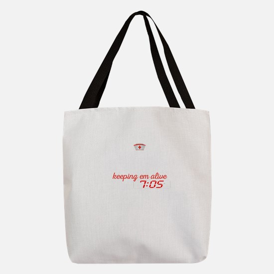 Night Shit Of Awesome Nurse Polyester Tote Bag