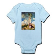 Umbrella & Basset Infant Bodysuit