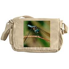 Blue Dash Skimmer Dragonfly Messenger Bag