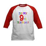 9th Birthday Kids Baseball Jersey