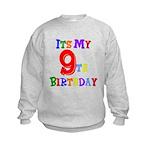 9th Birthday Kids Sweatshirt