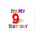 9th Birthday Postcards (Package of 8)