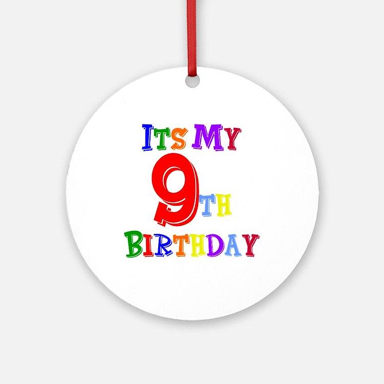 9th Birthday Ornament (Round)
