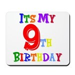 9th Birthday Mousepad