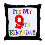 9th Birthday Throw Pillow