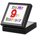 9th Birthday Keepsake Box