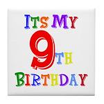 9th Birthday Tile Coaster