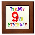 9th Birthday Framed Tile