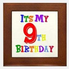9th Birthday Framed Tile