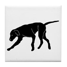 Silhouette Reach Out Dog Tile Coaster