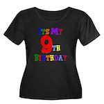 9th Birthday Women's Plus Size Scoop Neck Dark T-S