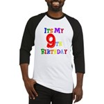 9th Birthday Baseball Jersey