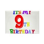 9th Birthday Rectangle Magnet
