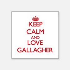 Keep calm and love Gallagher Sticker