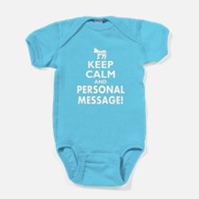 Personalized Democrat Keep Calm and Carry On Baby