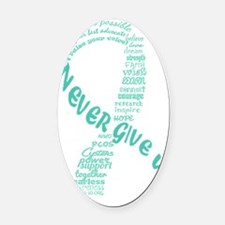 PCOS Awareness Month 2013 Oval Car Magnet