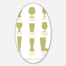 Proper Glassware Sticker (Oval)