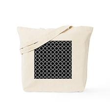 Black Quatrefoil Pattern Tote Bag
