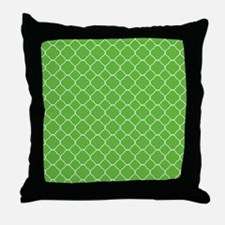 Green Quatrefoil Pattern Throw Pillow