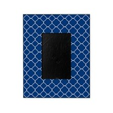 Navy Blue Quatrefoil Pattern Picture Frame